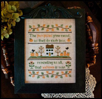 Country Cottage Needleworks - Autumn Pumpkins - Cross Stitch Pattern