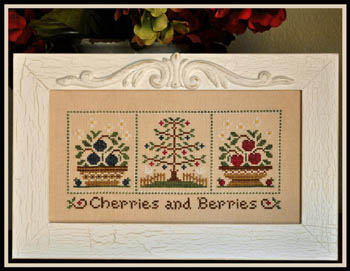 Country Cottage Needleworks - Cherries and Berries - Cross Stitch Pattern-Country Cottage Needleworks - Cherries and Berries - Cross Stitch Pattern