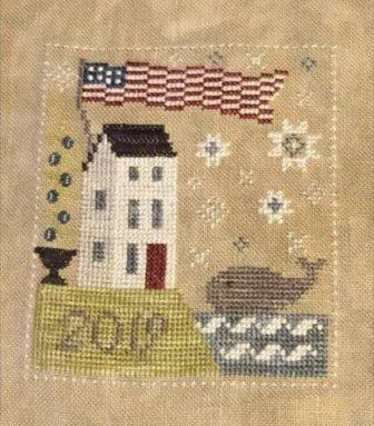 Chessie & Me - Whale Watch Kit-Chessie  Me - Whale Watch Kit, ocean, American flag, lighthouse, whale, uns, 2019, cross stitch