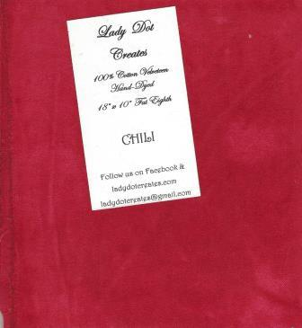 Lady Dot Creates - Velveteen - Chili-Lady Dot Creates - Velveteen - Chili, FINISHING, FABRIC, PILLOWS, CROSS STITCH, EMBROIDERY