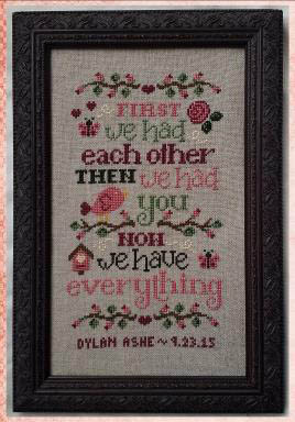 Cherry Hill Stitchery - Now We Have Everything - Birth Sampler-Cherry Hill Stitchery - Now We Have Everything - Birth Sampler