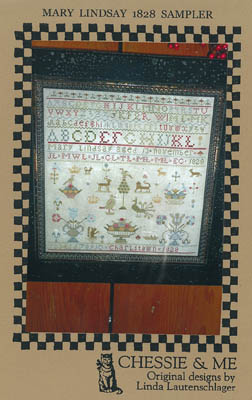 Chessie & Me - Mary Lindsay 1828 Sampler-Chessie  Me - Mary Lindsay 1828 Sampler, teaching, historic, alphabet, animals, Charlestown, cross stitch,