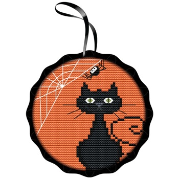Colonial Needle - Spooky Cat Kit-Colonial Needle - Spooky Cat Kit, Halloween, cats, ornaments, fall, cross stitch