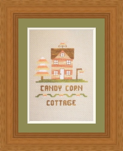 Flowers 2 Flowers - Candy Corn Cottage - Cross Stitch Pattern