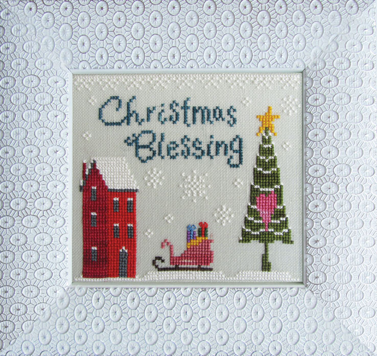 Cottage Garden Samplings - Christmas Love - Christmas Blessing - Cross Stitch Pattern-Cottage Garden Samplings, Christmas Love,   Christmas Blessing, Santa's sleigh, presents, house, Christmas tree, star, Christmas Eve,Santa Clause, Jesus, Cross Stitch Pattern