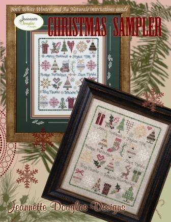 Jeannette Douglas Designs - Christmas Sampler-Jeannette Douglas Designs - Christmas Sampler, Christmas trees,  gifts, reindeer, candy canes, decorating, cross stitch