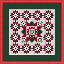Whispered by the Wind - Christmas Star-Whispered by the Wind, Christmas Star,doll house, quilt, rug, miniature, Christmas tree, quick and easy,  Cross Stitch Pattern