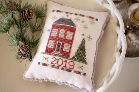 October House - Evergreen House-October House - Evergreen House, Christmas, trees, ornament, cross stitch