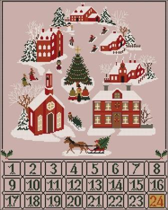 Twin Peak Primitives - Christmas Advent Calendar-Twin Peak Primitives - Christmas Advent Calendar, Christmas, countdown, daily, cross stitch