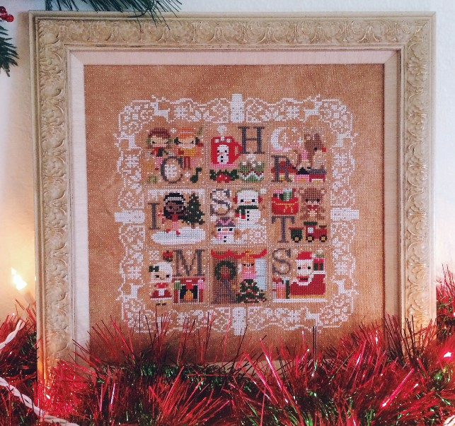 The Frosted Pumpkin Stitchery - Christmas Celebration Sampler-The Frosted Pumpkin Stitchery - Christmas Celebration Sampler, Christmas, snow, sampler, cross stitch