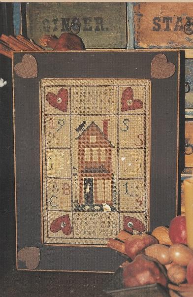 Homespun Elegance - Purely Samplers - Contented House Sampler - Cross Stitch Pattern