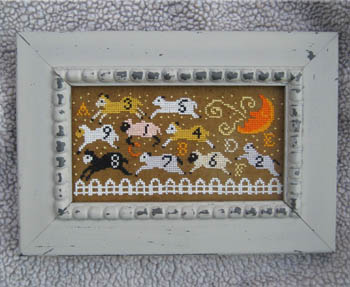 Carriage House Samplings - Counting Sheep - Cross Stitch Pattern-Carriage House Samplings - Counting Sheep - Cross Stitch Pattern