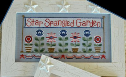 Country Cottage Needleworks - Star Spangled Garden - Cross Stitch Chart-Country Cottage Needleworks - Star Spangled Garden,Cross Stitch Chart, patriotic, 4th of july, flowers, military