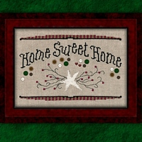 Carousel Charts - Home Sweet Home - Cross Stitch Pattern