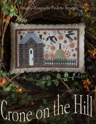 Plum Street Samplers - Crone on the Hill-Plum Street Samplers - Crone on the Hill, crow, home, alone, cross stitch