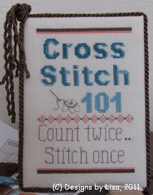 Designs by Lisa - Cross Stitch 101 - Cross Stitch Pattern-Designs By Lisa - Cross Stitch 101,  Cross Stitch Pattern