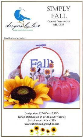 Designs by Lisa - Simply Fall-Designs by Lisa - Simply Fall, autumn, leaves,  sunflowers, crows, pumpkin, cross stitch