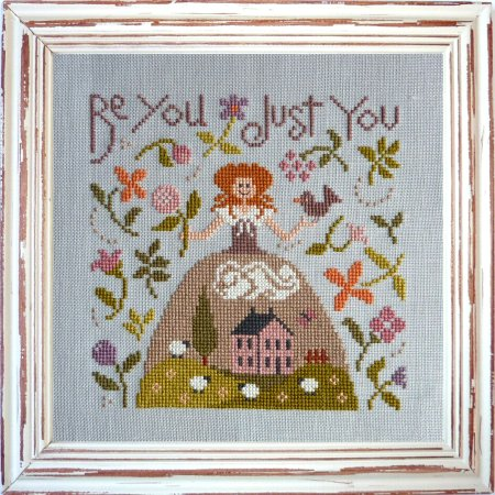 Jardin Prive - Be You Just You-Jardin Prive - Be You Just You, spring, flowers, sheep, cross stitch