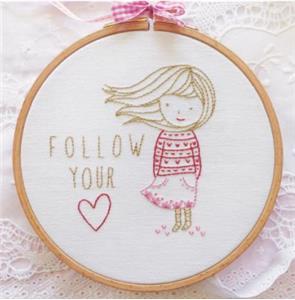 DMC - Tamar - Follow Your Heart - Embroidery Kit-DMC - Tamar - Follow Your Heart - Embroidery Kit
