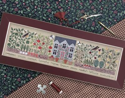 The Drawn Thread - The Kitchen Garden-The Drawn Thread - The Kitchen Garden, herbs, plants, cooking, cross stitch