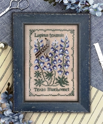The Drawn Thread - Botanical Stitches - Texas Bluebonnet-The Drawn Thread - Botanical Stitches - Texas Bluebonnet, flowers, cross stitch
