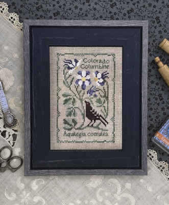 The Drawn Thread - Botanical Stitches - Colorado Columbine-The Drawn Thread - Botanical Stitches - Colorado Columbine, flowers, cross stitch