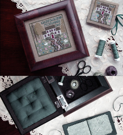 The Drawn Thread - Front Yard Flowers Sewing Box and Needle Book - Cross Stitch Pattern