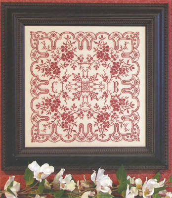 Rosewood Manor - Dogwood Lace - Cross Stitch Pattern Booklet