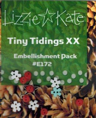Lizzie Kate - Tiny Tidings XX Embellishment Pack-Lizzie Kate - Tiny Tidings XX Embellishment Pack,