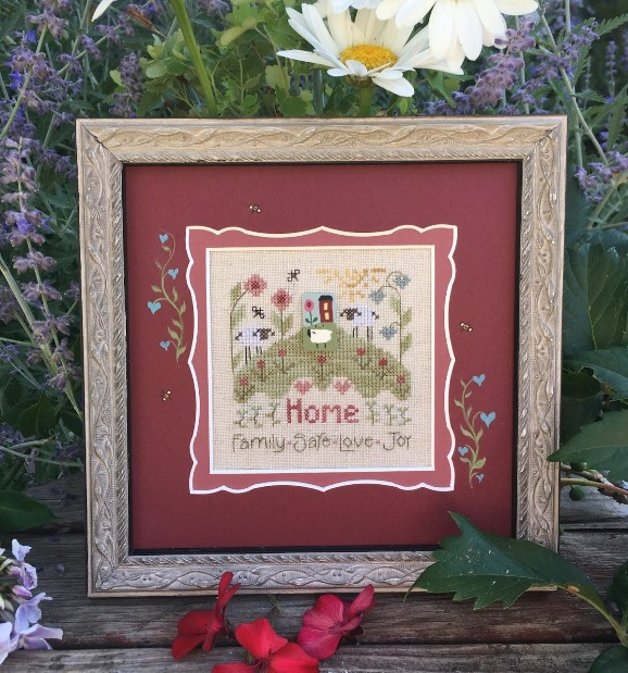 Shepherd's Bush - Thoughts of Home-Shepherds Bush - Thoughts of Home, safe, family, home, cross stitch