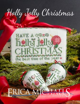 Erica Michaels Designs - Holly Jolly Christmas-Erica Michaels Designs - Holly Jolly Christmas, best time of the year, expo, Christmas, ornaments, cross stitch