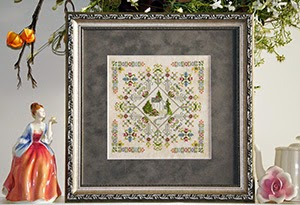 Rosewood Manor - Village Home Series - English Garden - Cross Stitch Pattern-Rosewood Manor, Village Home Series, English Garden, Cross Stitch Pattern