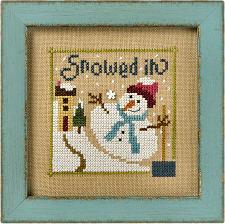 Lizzie Kate - 6 Fat Men Flip-it - Snowed In-Lizzie Kate - 6 Fat Men Flip-It - Snowed In - Cross Stitch Pattern