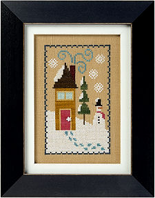 Lizzie Kate - 6 Fat Men Flip-it - Snow House-Lizzie Kate - 6 Fat Men Flip- It - Snow House - Cross Stitch Pattern