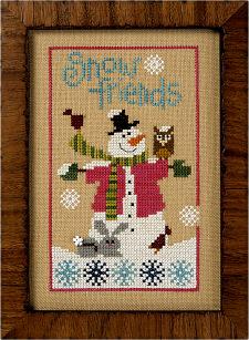 Lizzie Kate - 6 Fat Men Flip-it - Snow Friends-Lizzie Kate - 6 Fat Men Flip-It - Snow Friends - Cross Stitch Pattern
