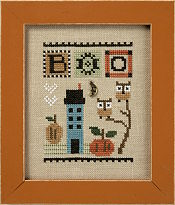Lizzie Kate - Celebrate with Charm - Boo!-Lizzie Kate - Celebrate with Charm - Boo, Halloween, owl, fall, moon, cross stitch