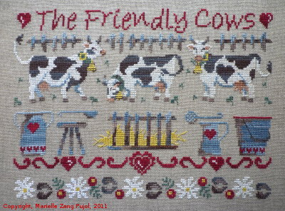 Filigram - The Friendly Cows-Filigram - The Friendly Cows,  - Cross Stitch Pattern