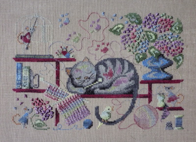 Filigram - Knitting Cat-Filigram - Knitting Cat - Cross Stitch Pattern