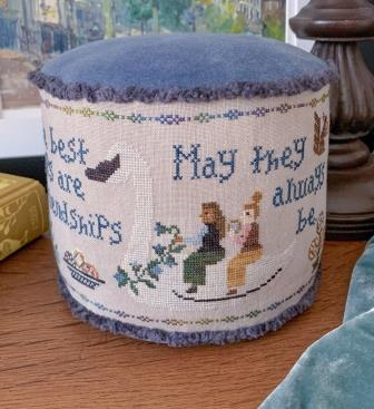 The Blue Flower - Friendship Sampler - 2020 Nashville Market Exclusive-The Blue Flower - Friendship Sampler - 2020 Nashville Market Exclusive, girlfriends, bff, cross stitch