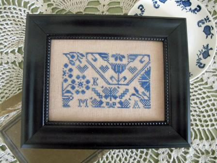 From The Heart - Needleart by Wendy - Quaker Blues