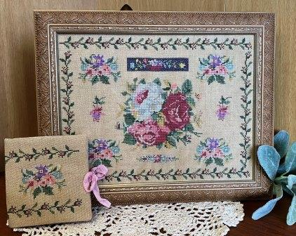 From The Heart - Rose Garden-From The Heart - Rose Garden, sampler, reproduction, historic, alphabets, cross stitch, teaching, needle book,