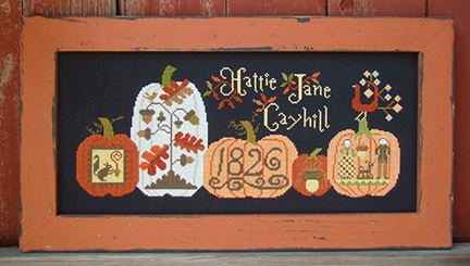 Carriage House Samplings - Fall's Gifts-Carriage House Samplings - Falls Gifts, pumpkins, Hattie Jane Cayhill, fall, leaves, squirrel