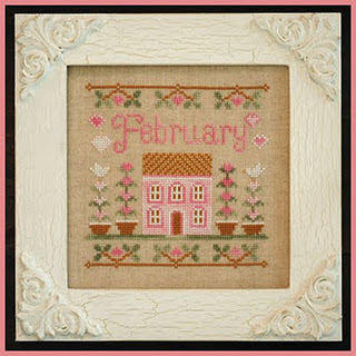 Country Cottage Needleworks - Cottage of the Month 02 - February Cottage - Cross Stitch Pattern