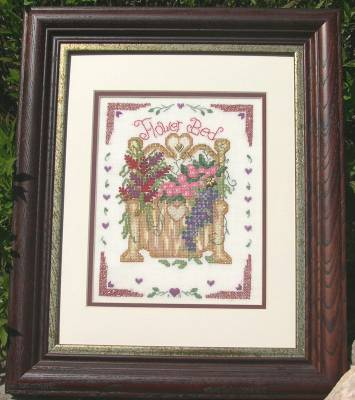 Designs by Lisa - Flower Bed - Cross Stitch Pattern