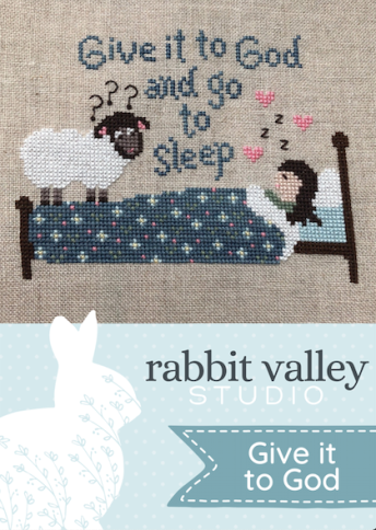 Rabbit Valley Studio - Give it to God-Rabbit Valley Studio - Give it to God, prayers, sheep, counting sheep, bedtime, sleeping, cross stitch