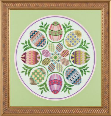Glendon Place - Eggs Ala Round - Cross Stitch Pattern-Glendon Place - Eggs Ala Round - Cross Stitch Pattern
