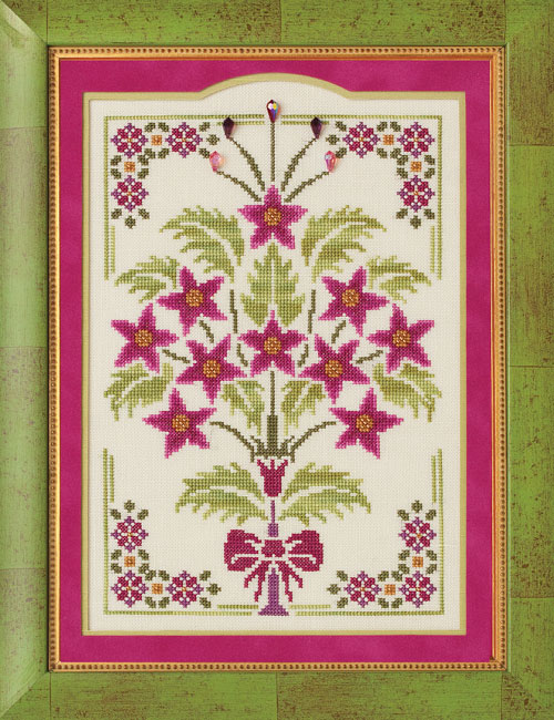 Glendon Place - Royal Poinsettias - Cross Stitch Pattern