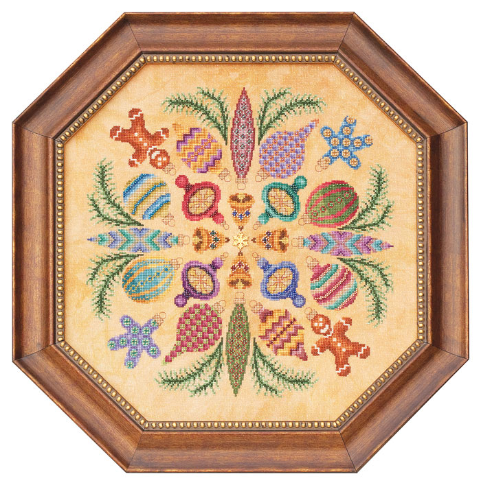 Glendon Place - Ornaments Ala Round - Cross Stitch Pattern-Glendon Place - Ornaments Ala Round - Cross Stitch Pattern