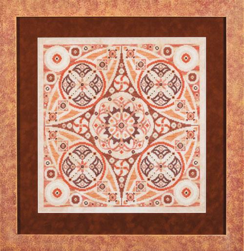 Glendon Place - Pumpkin Swirl - Cross Stitch Pattern