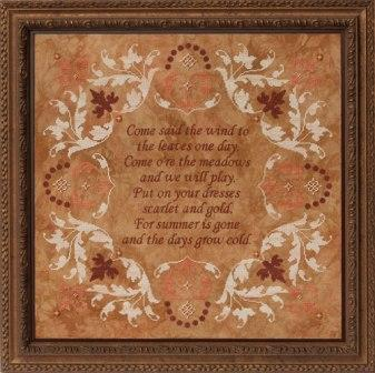 Glendon Place - Come Said The Wind - Cross Stitch Pattern